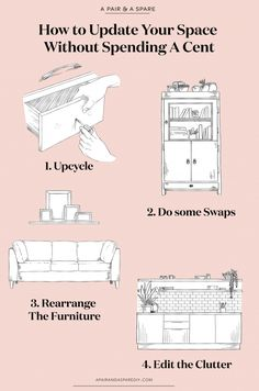 How to Update Your Space Without Spending A Cent (a pair & a spare) Diy Wedding Cake, Diy Wedding Bouquet, Mason Jar Diy, Mason Jar Crafts, Easy Crafts To Sell, Small Craft Rooms, Bullet Journal For Beginners, A Little Life, Popular Crafts