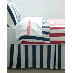 Red Plum  Linen Red Stripe Quilt Cover
