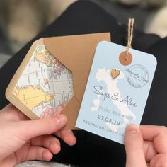 location heart luggage tag save the date by paper and inc | notonthehighstreet.com