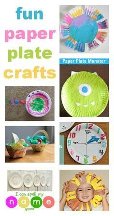 easy paper plate crafts for kids :: preschool paper plate crafts