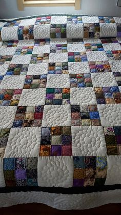 Amish 9 Patch Calico by QuiltsByAmishSpirit on Etsy ~ US$1,275.00 Only 1 available