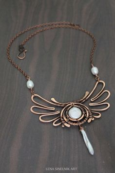 copper wire mixed gauge wrapped pendant - Google Search