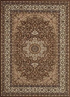 Traditional Oriental Brown High Quality Medallion Design 4 X 53 Area Rug ** Continue to the product at the image link.
