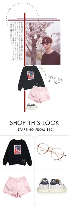 """I want you baby."" by rocio-kim ❤ liked on Polyvore featuring adidas Originals, jb and GOT7"