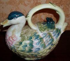 Vintage Teapot Collection Mallard Duck Figural Tea Pot Pitcher Art Pottery | eBay