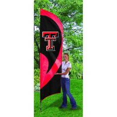 Texas Tech Red Raiders NCAA Applique & Embroidered Tall Team Flag (102x30)