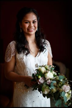 Bridal Portrait, bride wearing Jenny Packham dress