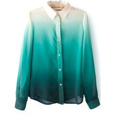 26,90EUR Bluse mit Ombre Farbverlauf grün