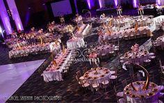 Alisha Ameet, wedding Reception, Savannah, Georgia, Suhaag Garden, Florida wedding decor and design vendor, gold tusks, centerpieces, wedding seating, estate tables, large photo frames, round tables, candelabras
