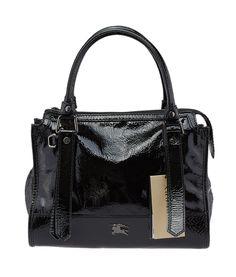 #Burberry Pilgrim Black Patent Leather Shoulder Bag #DesignerHandbags #BurberryLondon