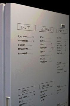 #kitchen #fridge #write #dry #erase #grocery #list