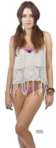 Sweater Peecemaker + biquíni Scarf Cherry - Billabong Girls Summer 13