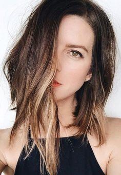Le Fashion Blog Beauty Hair Style Asymmetrical Ombre Long Bob Black Tank Top Via @michelletakeaim