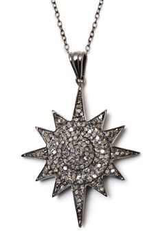 Champagne Diamonds Sun Burst Pendant Necklace - 1.15 ctw - I'll take one of these please.  :0)