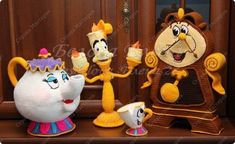 Toy Crochet Mrs. Potts and Chip from m / f Beauty and the Beast Yarn Photo 8