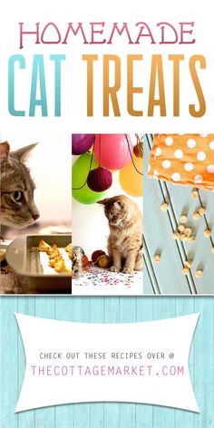 Homemade Cat Treats - The Cottage Market A collection of scrumptious kitty cat treats that your purrfect pet will love! MEOW!