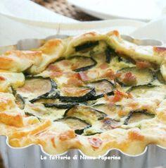 Crostata di zucchine prosciutto cotto e ricotta