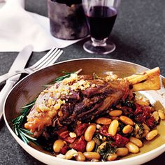 Lamb Shanks with Sundried Tomatoes and Cannellini Beans