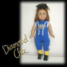 Custom+18+Doll+Softball+Baseball+Replica+Uniform+by+SewWowSewNow,+$65.00