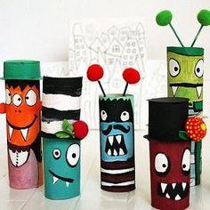 Voici des supers idées pour recycler vos rouleaux de papier toilette à Halloween ! Des idées toutes simples pour réaliser des personnages d\\\'Halloween avec des rouleaux de papier toilette, une chouette façon de recycler vos rouleaux pendant les vacances de la Toussaint avec peu de matériel nécessaire.Intérêt : peinture et ...
