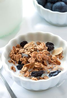 Spiced Blueberry Almond Granola from @texanerinbaking