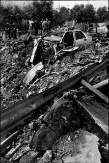 Capaci, 1992. Homicide de Giovanni Falcone, de sa femme et de trois agents de son escorte.