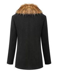Stylish Western Style Fur Neck Coat For Women