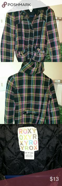 Roxy Hooded Quilted Full Zip Jacket, XS Very Nice Roxy Hooded Quilted Jacket, Junior Size XS. Roxy Jackets & Coats