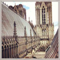 Les tours de la cathédrale de Reims - France