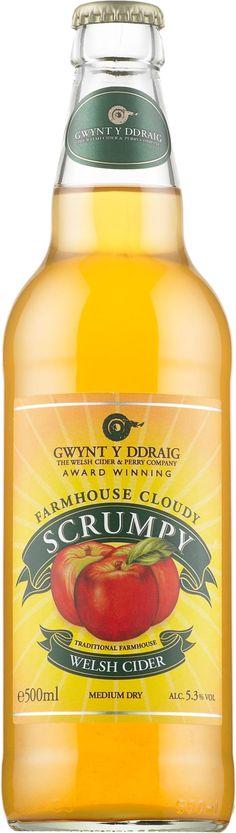 Gwynt y Ddraig Farmhouse Cloudy Scrumpy, puolokuiva siideri, vähän hapokas, samea, kevyen omenainen, hennon persikkainen, mausteinen, itämainen kiinalainen mausteinen Keljo