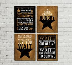 Printable Set of Hamilton Musical Quotes by ljcDigitalDesigns
