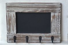 Entryway Chalkboard Frame Key Holder, Rustic Chalkboard Coat Rack, Framed Chalkboard Mudroom Hooks, Entryway Chalkboard Organizer