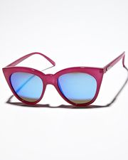 Halfmoon Magic Sunnies by Le Specs from SURF DIVE N SKI. Hot colour, cool lens tint, quirky frame shape and budget friendly.