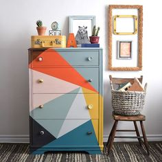 There is no shortage of color in the world of Poppyseed Creative Living! Painted… There is no shortage of color in the world of Poppyseed Creative Living! Painted with Chalk Paint®️️ decorative paint by Annie Sloan Creative Furniture, Room Decor, Furniture Makeover, Interior, Home Diy, Kids Room Paint, Diy Furniture, Painted Furniture, Home Decor