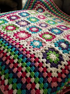 Etsy - CUSTOM MADE BabyLove Brand Framed Garden Blanket/Afghan, great color for toddler/baby shower or lapghan - gift in photo is ready to ship. $60.00, via Etsy. Colors must do!