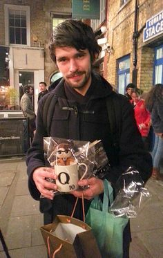 AWWWWWW...just look at that Q doll and mug. Love you Ben Whishaw!