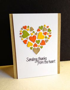 Thanks from the heart card
