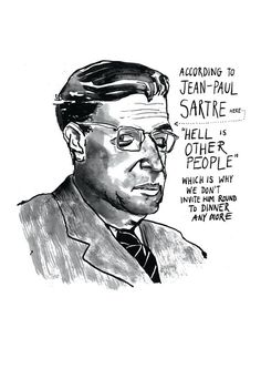 JeanPaul Sartre poster print Existentialist by StandardDesigns, £12.50