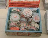 Cath Kidston DISPLAY BOX filled with RIBBONS  -  Dollhouse Miniature