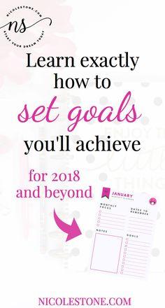 set goals you can achieve