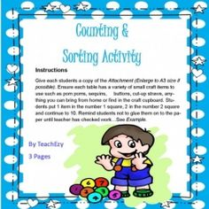 Counting and Sorting - Kindergarten