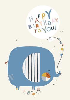 Image of Birthday Elephant Balloon card