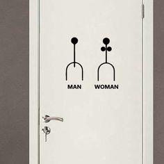 Creative Art Bathroom Wall sticker Home Decor Toilet Decal DIY Removable Vinyl stickers JG1835