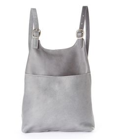 bdbce1b8231e Look at this  zulilyfind! Gray Leather Sling Backpack by Le Donne   zulilyfinds Sling