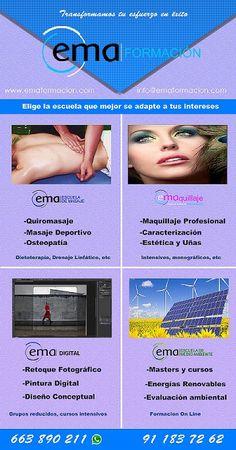Toda la info sobre nuestros #cursos en #Septiembre siguiendo el enlace :) http://www.emaformacion.com/ -- #cursos #Formación #Madrid #Masaje #Maquillaje #estética #photoshop #uñas