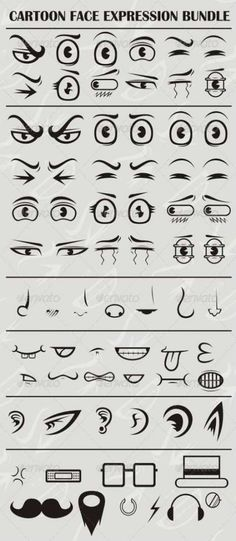 45+ Trendy ideas for drawing tutorial cartoon face #drawing Cartoon Faces Expressions, Cartoon Expression, Anime Faces Expressions, Drawing Cartoon Characters, Drawing Expressions, Cartoon Sketches, Character Drawing, Facial Expressions, Cartoon Eyes Drawing