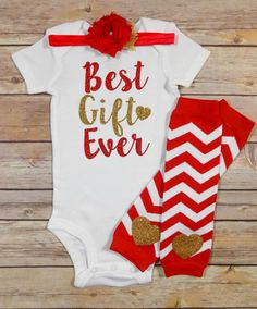 best gift ever baby girl christmas outfit by QueenBeeBoutique127
