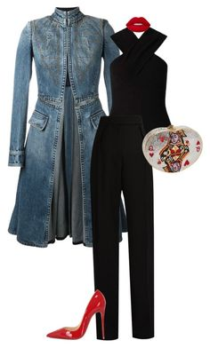 """""""Queen of Everything."""" by ms-ashmarie on Polyvore featuring Alexander McQueen, Miss Selfridge, Lanvin, Christian Louboutin, Lime Crime and Judith Leiber"""