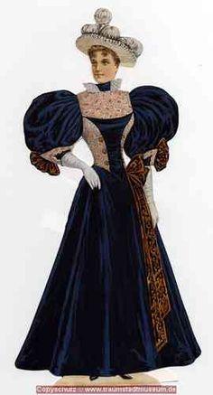 Miss Sophie Viktorianische Anziehpuppe 33 cm fein geprägt Reprint 1895 Paper Doll
