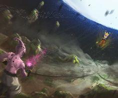 |★| Goku VS Kid Buu |★| Spirit bomb